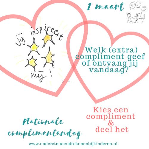 1 maart Nationale complimentendag – tekeningetjes om te delen