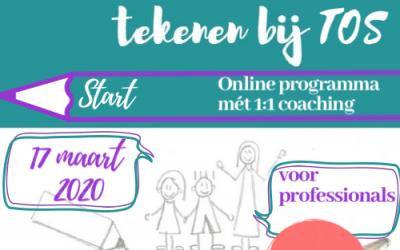 Online tekenenbijTOStraining- kinderen voor professionals start 17 maart! Geef je gauw op!
